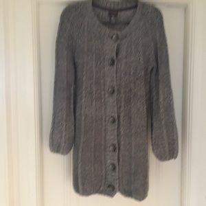 Dex long chunky knit cardigan